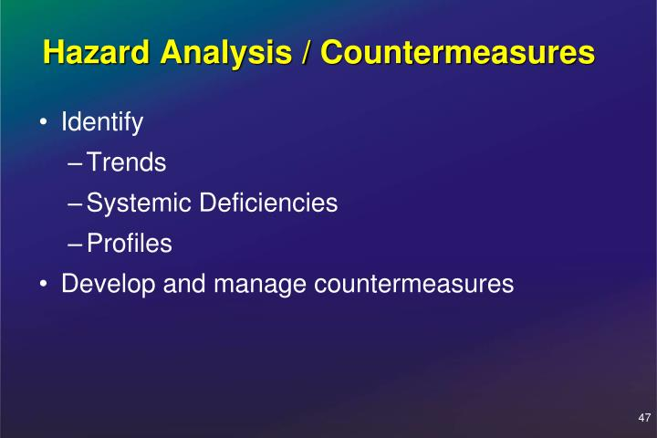 Hazard Analysis / Countermeasures