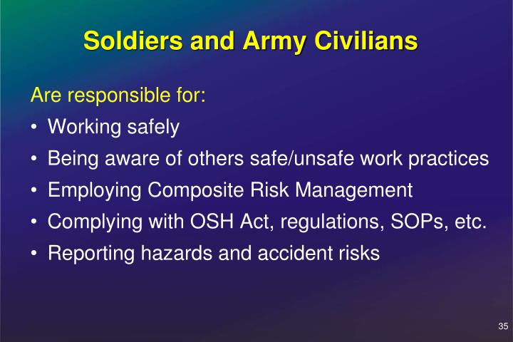Soldiers and Army Civilians