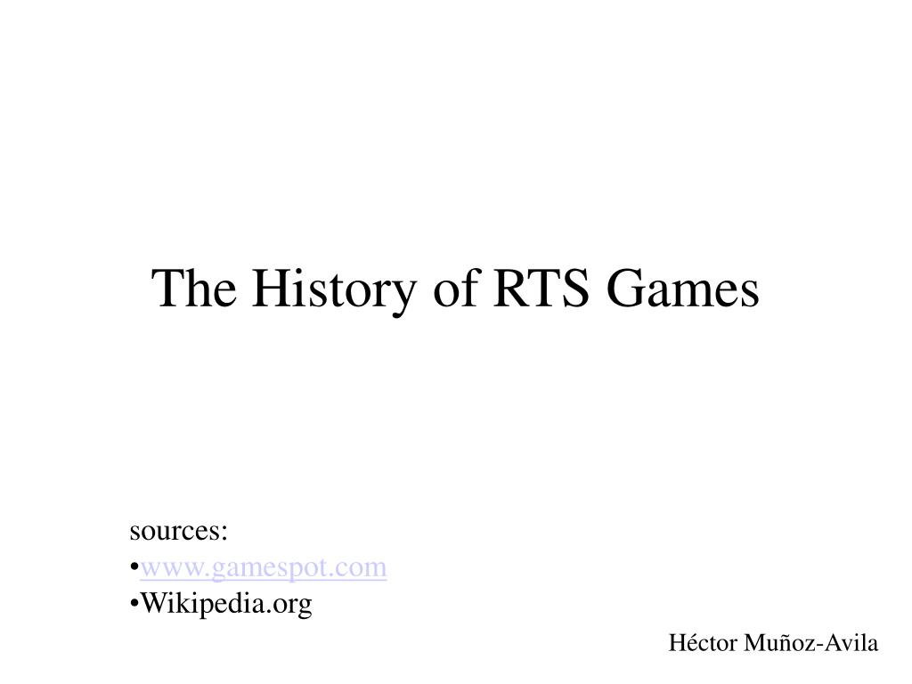 the history of rts games l.