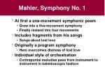 mahler symphony no 1