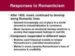 responses to romanticism