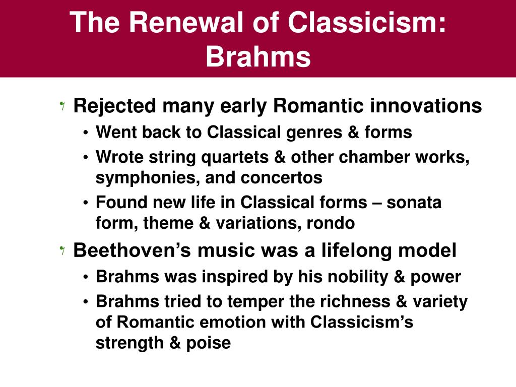 The Renewal of Classicism: