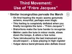 third movement use of fr re jacques
