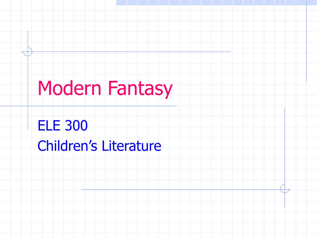 modern fantasy l.