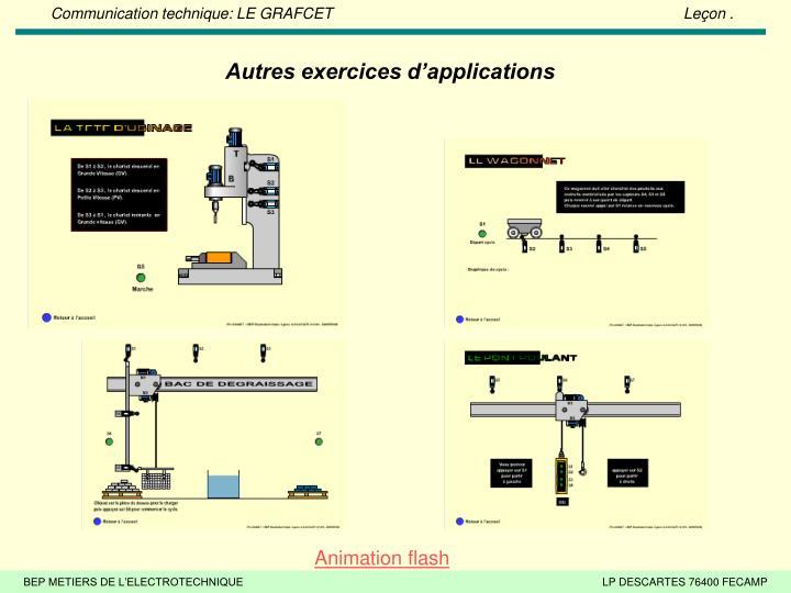 Autres exercices d'applications
