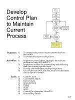 develop control plan to maintain current process