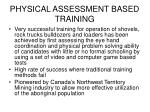 physical assessment based training