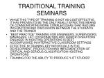 traditional training seminars