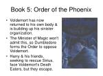 book 5 order of the phoenix