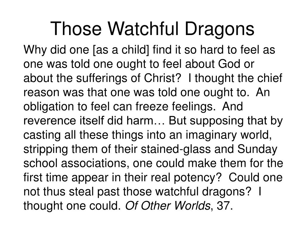Those Watchful Dragons