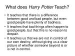 what does harry potter teach23