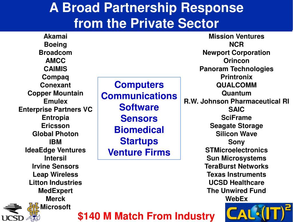 A Broad Partnership Response