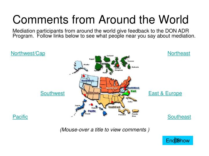 comments from around the world n.