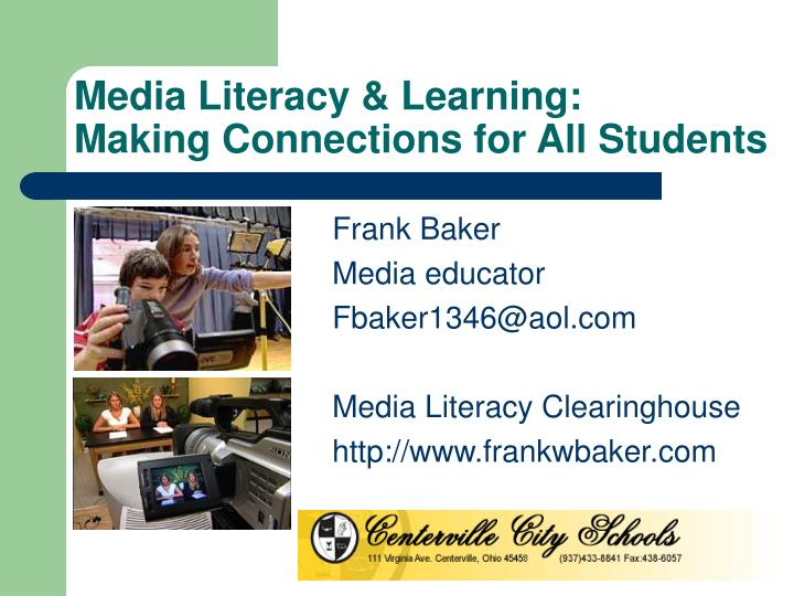 media literacy learning making connections for all students n.