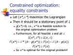 constrained optimization equality constraints7