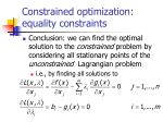 constrained optimization equality constraints8