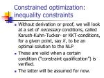 constrained optimization inequality constraints24