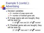 example 5 contd advertising