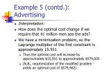example 5 contd advertising20