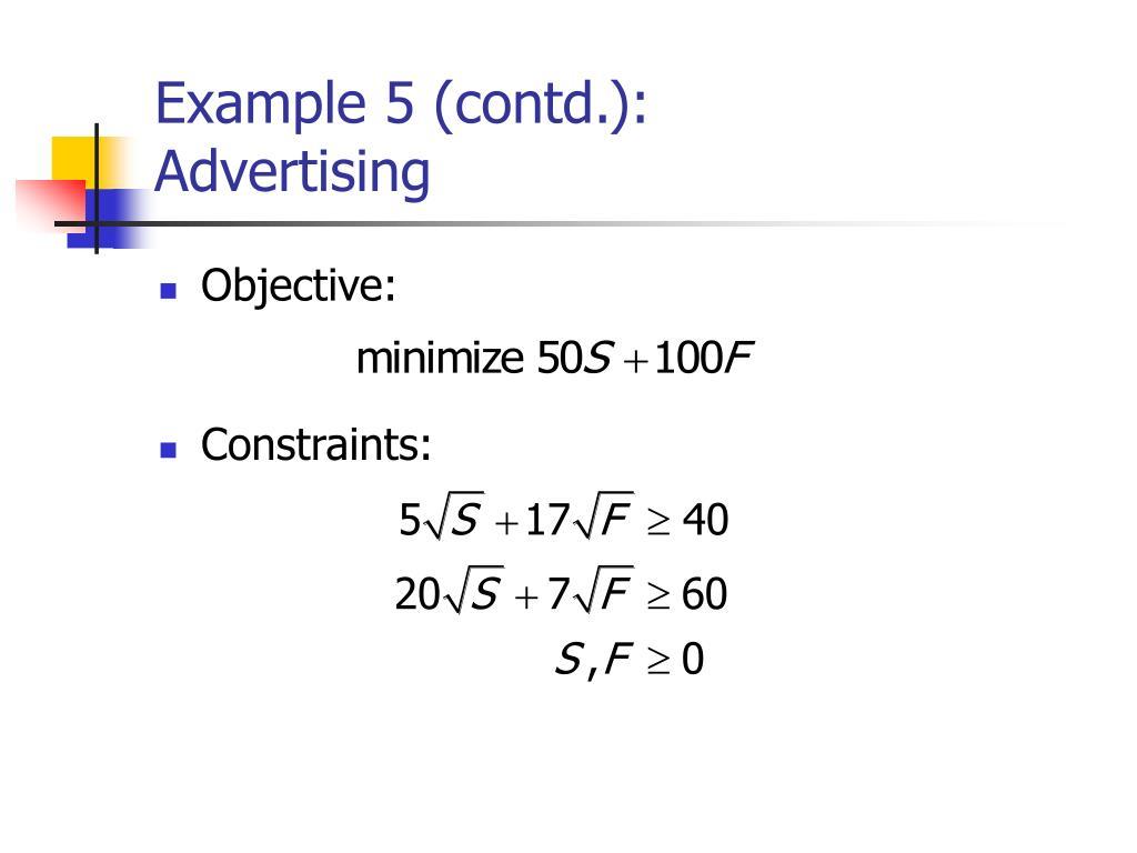 Example 5 (contd.):