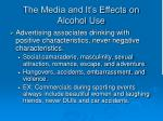 the media and it s effects on alcohol use