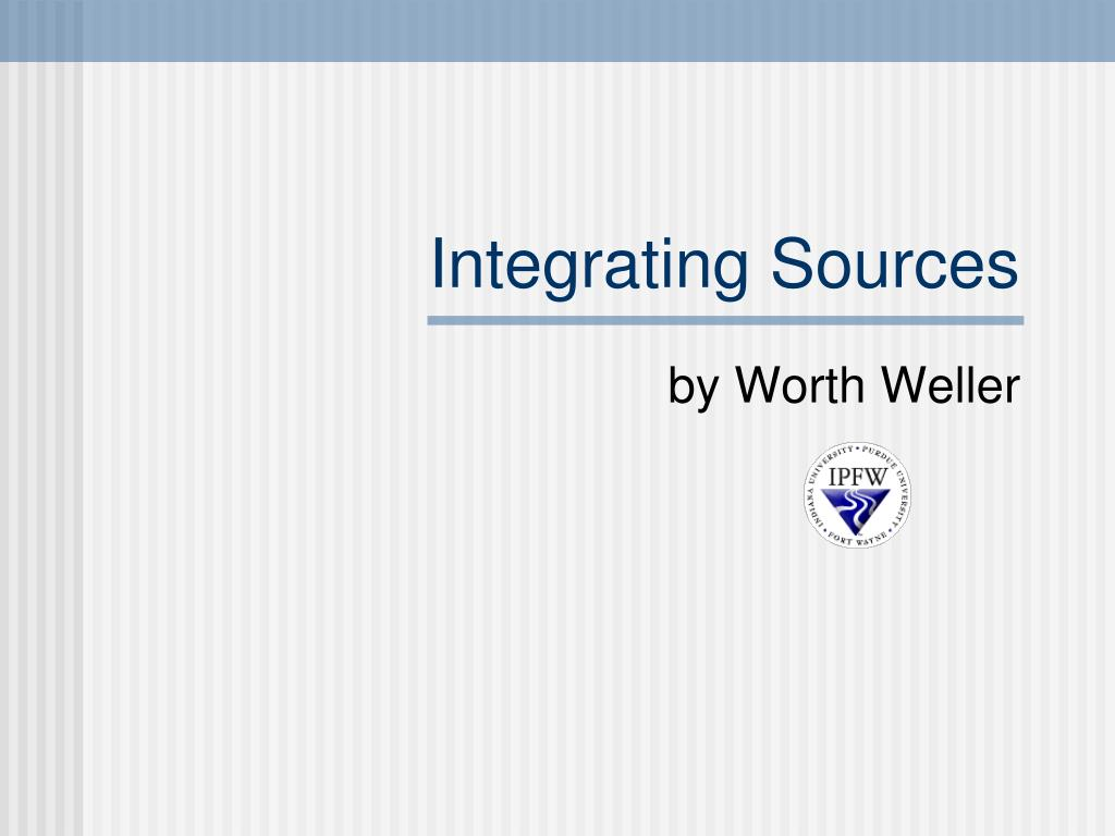 integrating sources l.