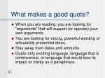 what makes a good quote