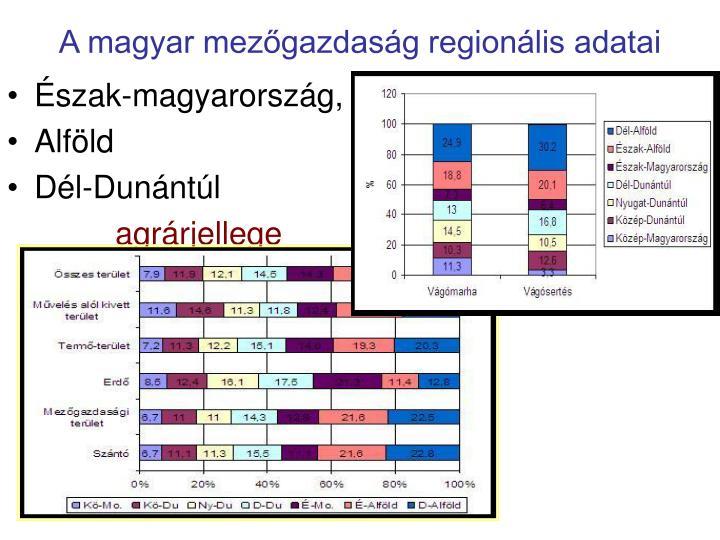 A magyar mezőgazdaság regionális adatai