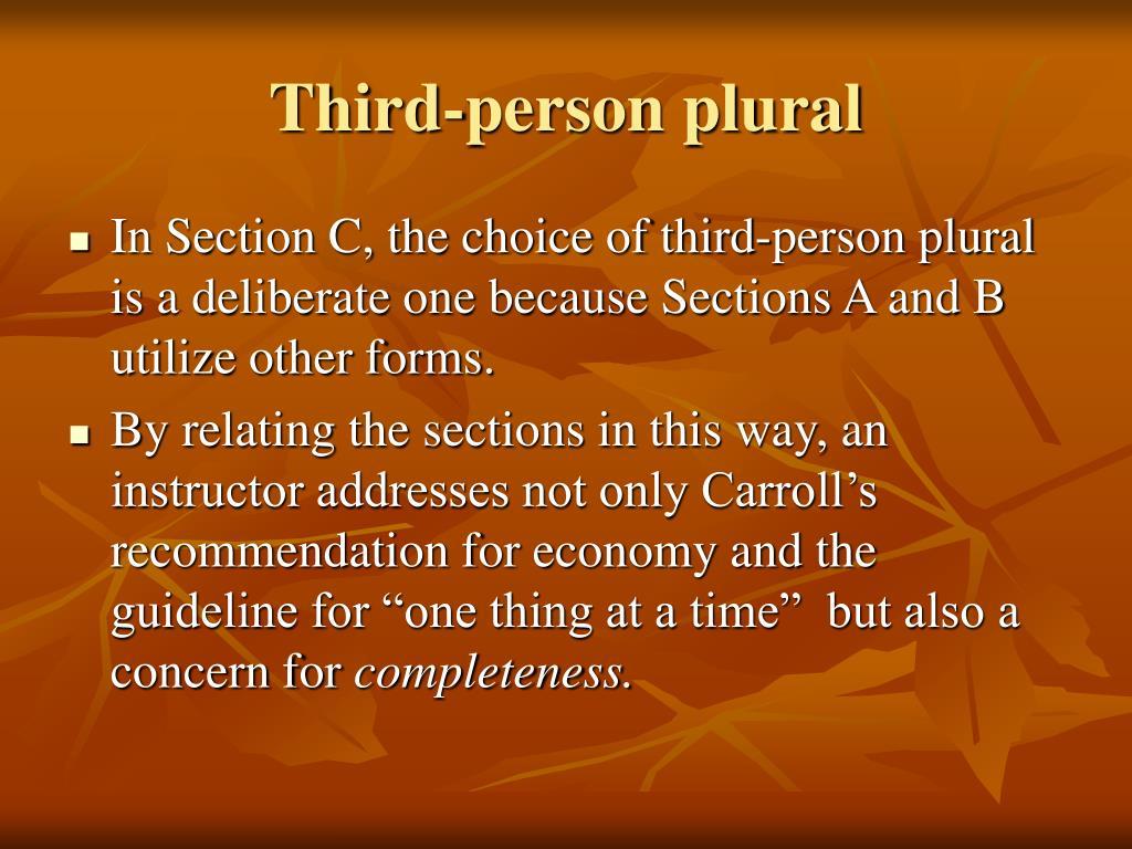 Third-person plural