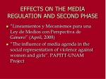 effects on the media regulation and second phase