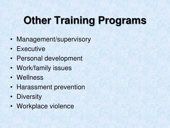 Other Training Programs