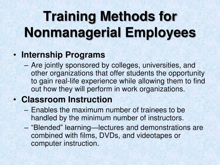 Training Methods for