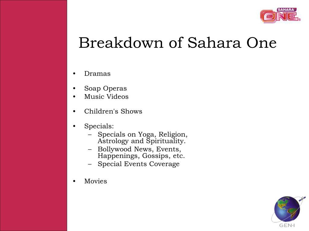 Breakdown of Sahara One