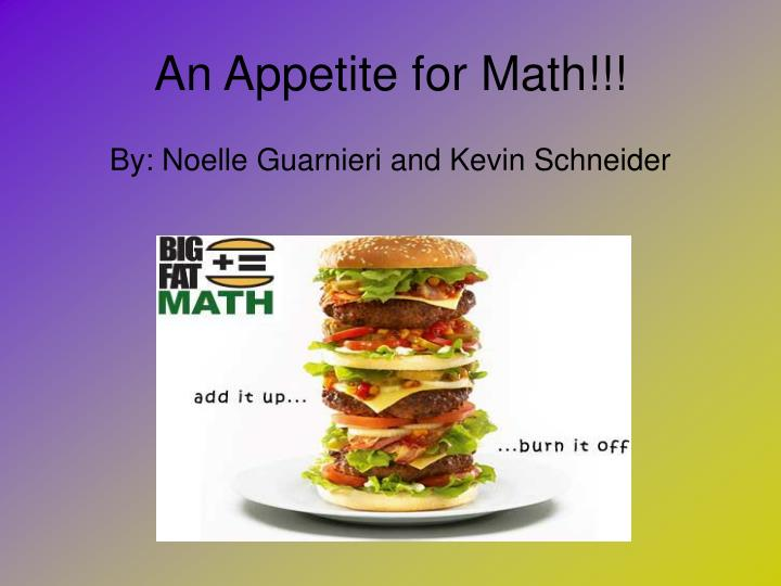 an appetite for math n.