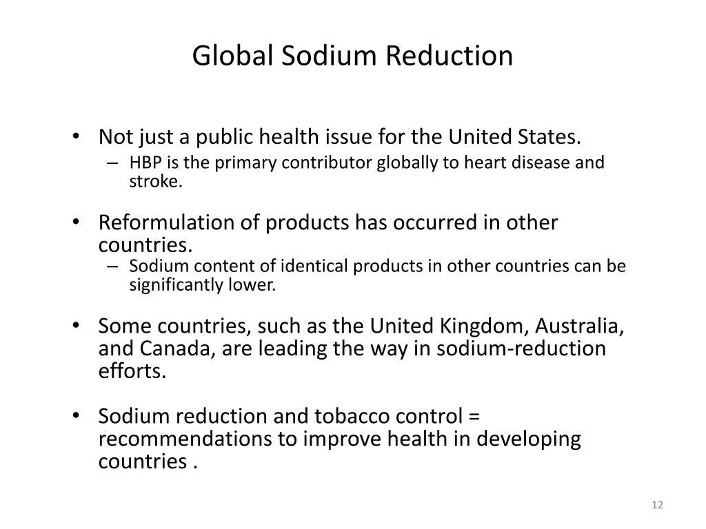 Global Sodium Reduction