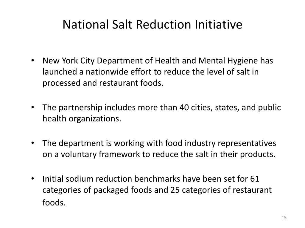 National Salt Reduction Initiative