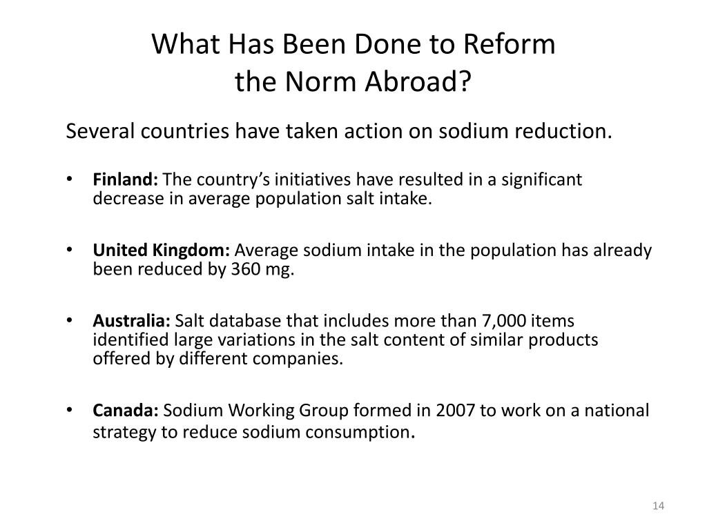 What Has Been Done to Reform