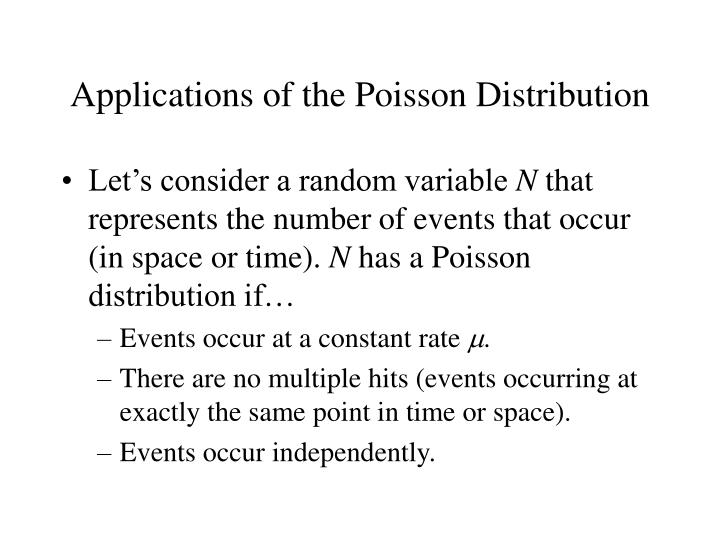 applications of the poisson distribution n.