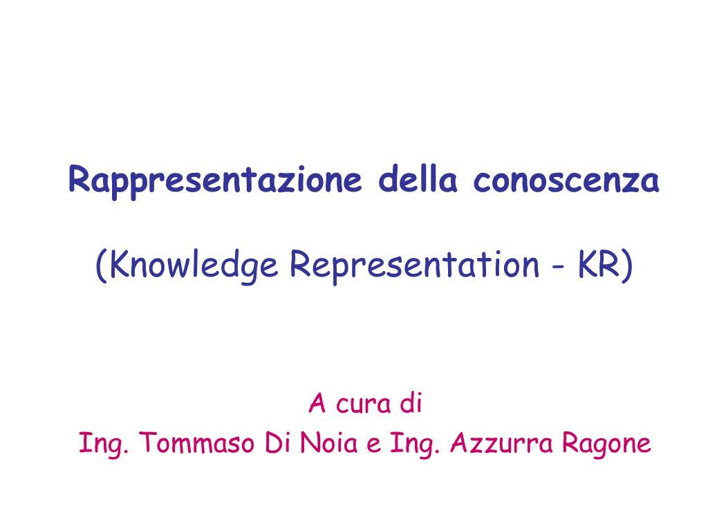 Rappresentazione della conoscenza