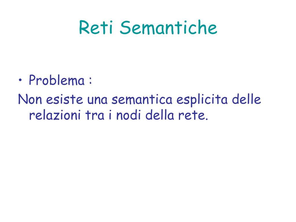 Reti Semantiche