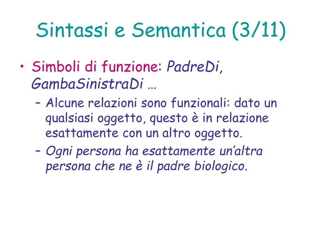 Sintassi e Semantica (3/11)