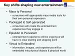key shifts shaping new entertainment