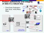 protect authenticity and integrity of data in a robust way