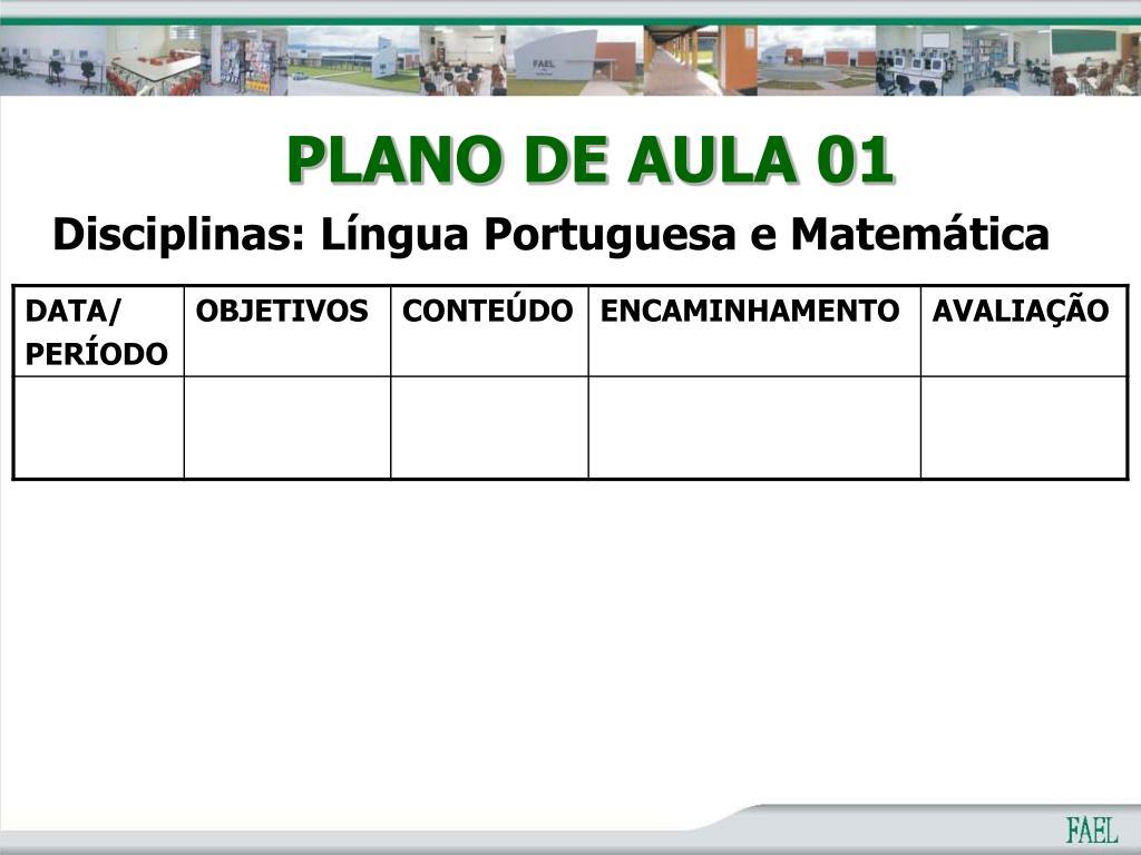 PLANO DE AULA 01