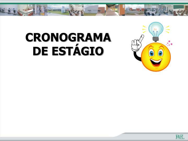 CRONOGRAMA DE ESTÁGIO