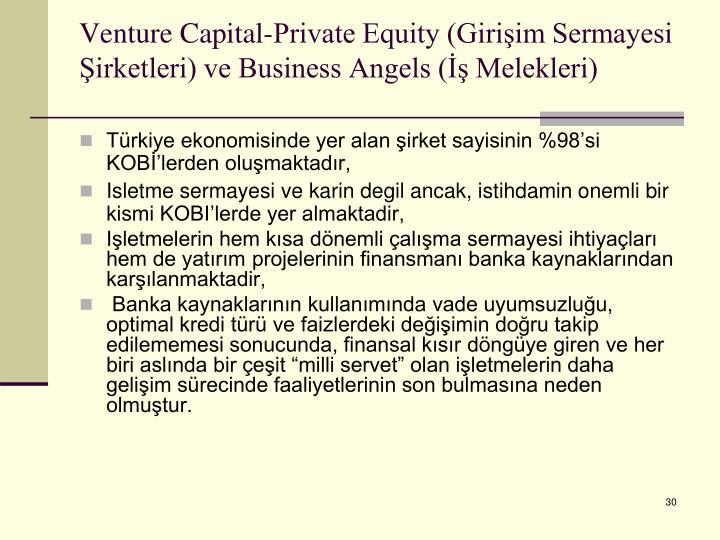 Venture Capital-Private Equity (Girişim Sermayesi Şirketleri) ve Business Angels (İş Melekleri)