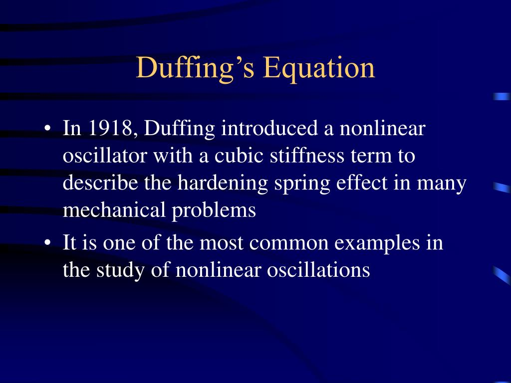 Duffing's Equation
