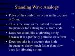 standing wave analogy