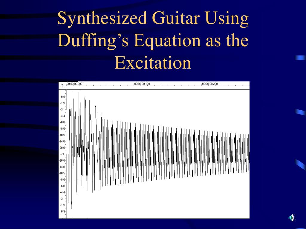 Synthesized Guitar Using Duffing's Equation as the Excitation