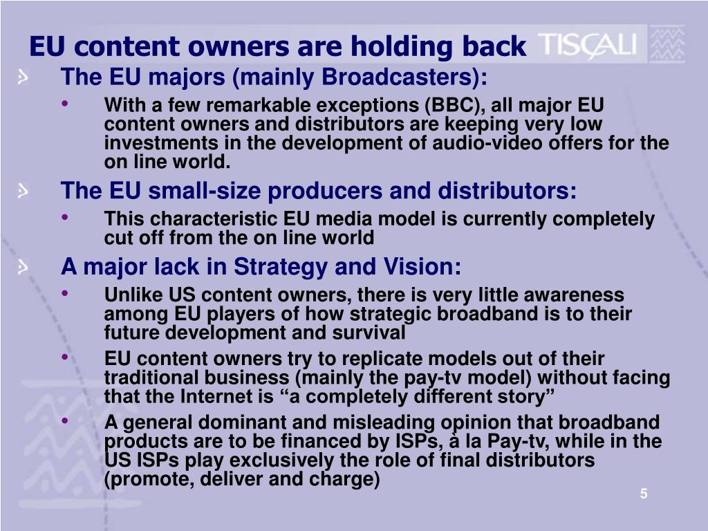 EU content owners are holding back